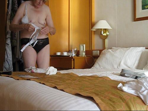 une photo voyeur de seins d'une femme mature