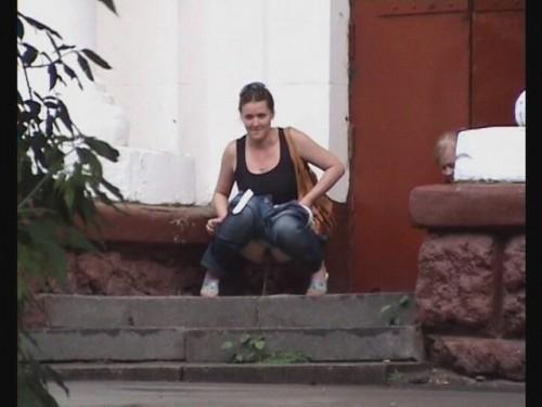 pipi dans la rue