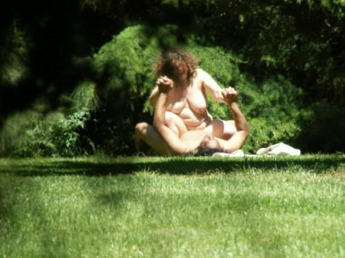 du sexe dans un parc