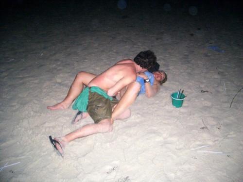 masturbée à la plage