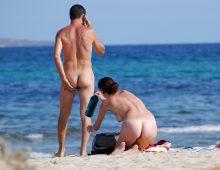le cul d'une belle nudiste